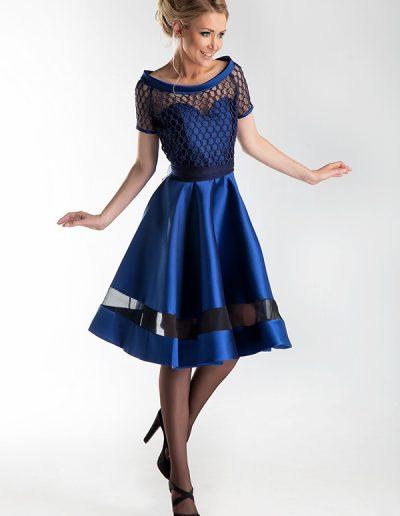 vestido-cóctel-azul-eléctrico
