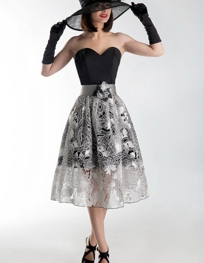 vestido-cóctel-negro-y-plata