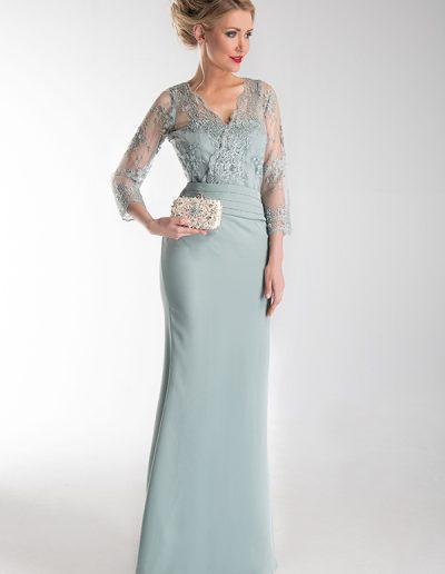 vestido-largo-azul-vintage