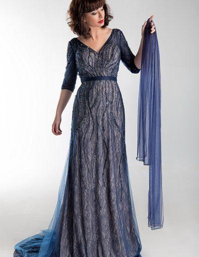 vestido-largo-manga-34-azul-marino