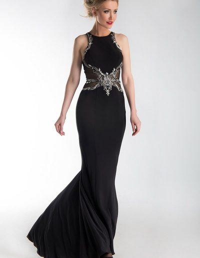 vestido-largo-negro-detalle-pedreria-en-cintura