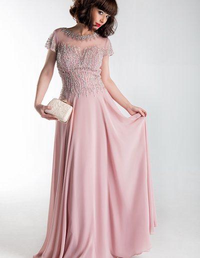 vestido-largo-rosa-manga-corta