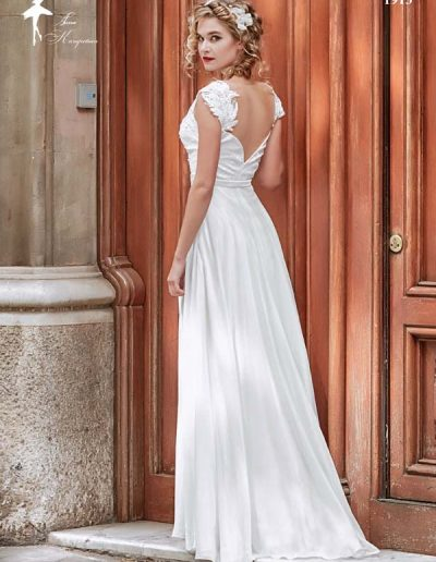 Vestido de novia media manga
