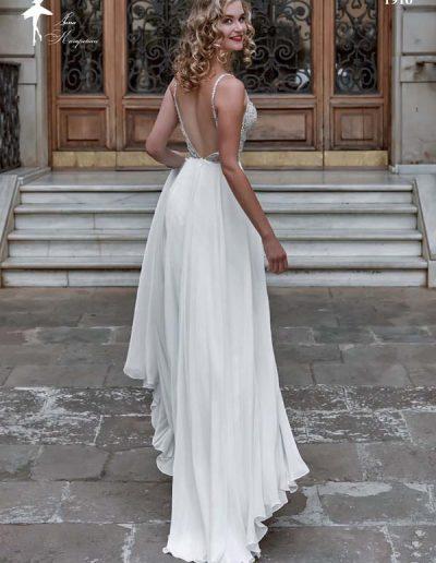Vestido de novia de falda fluida
