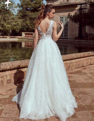 Vestido de novia falda con textura