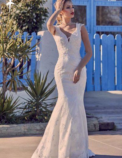 Vestido de novia de corte sirena de encaje