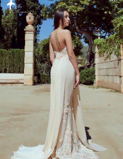 Vestido de novia flores 3D