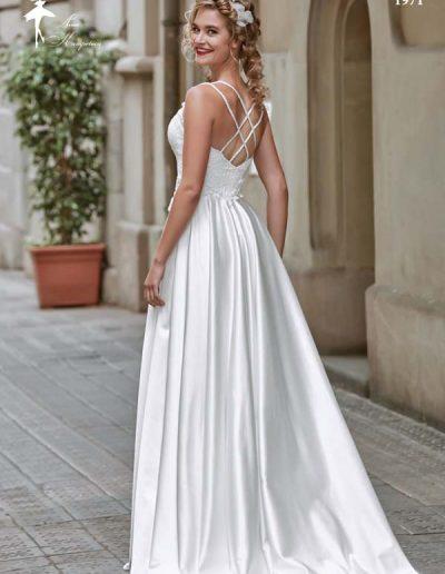 vestido de novia cuerpo ajustado y multitirante
