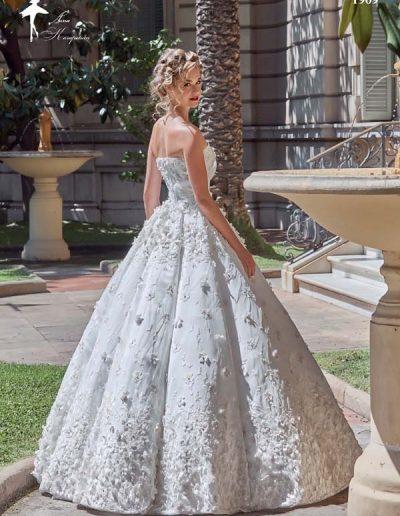 Vestido de novia con volumen