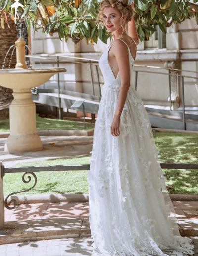 Vestido de novia combinado